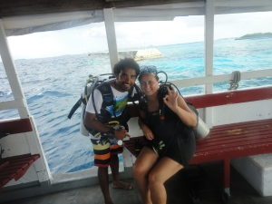 With my dive guide Mohammed Shivaz