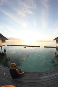 Sari enjoying the view at Ellaidhoo resort